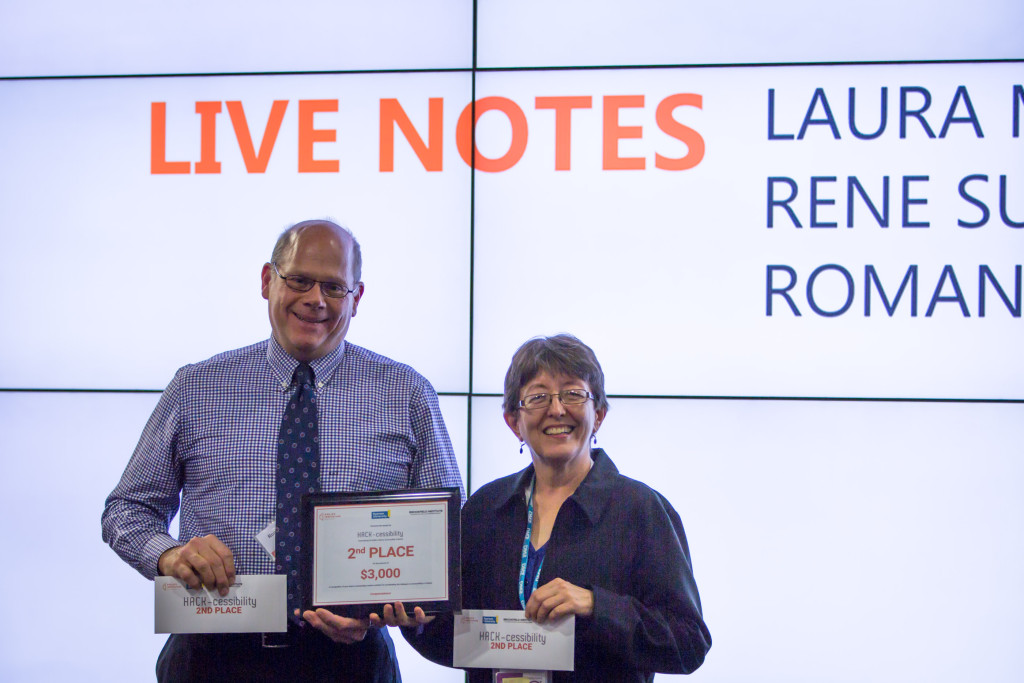 Photo of winning team: Live Notes